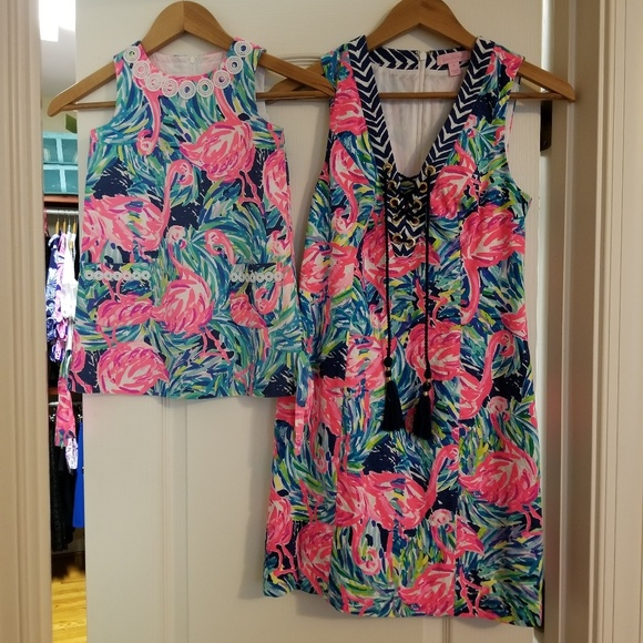 Lilly Pulitzer Dresses & Skirts - Lilly Pulitzer flamingo shift dress matching mommy